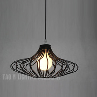 Modern 16 Painting Metal Cage Dining Room Pendant Light Fashion Slim Restaurant Study room Club Bar Counter Pendant Lamps