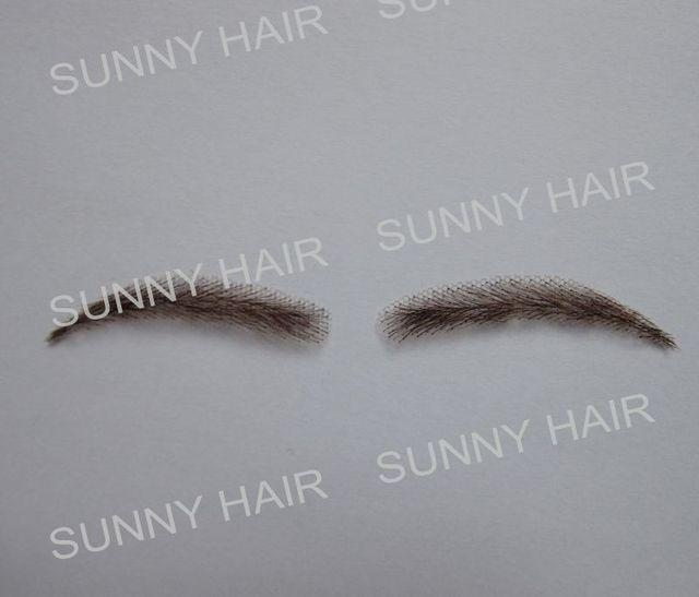 0117 hand made human hair hand knot fake eyebrow 3