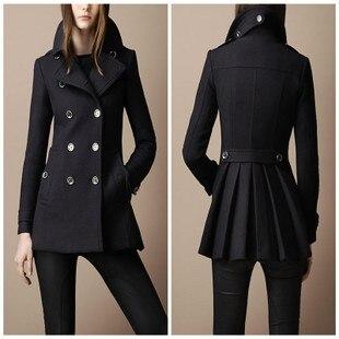 Women European style Wool wool coat for winter Fashion outwear ...