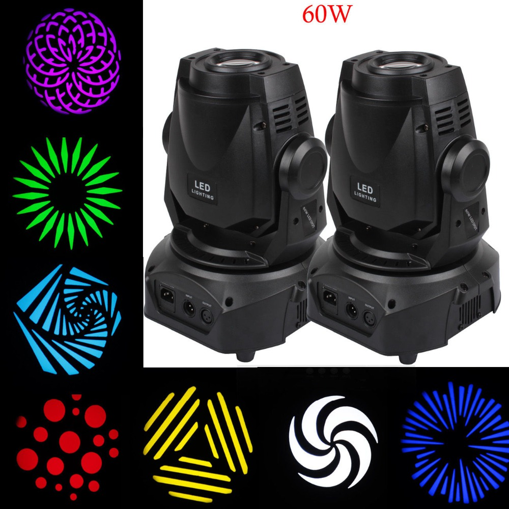 2 pcs 60 w 3 Prisme LED Spot Moving Head Light Facette DMX 14Ch DJ Stade Parti Afficher Club