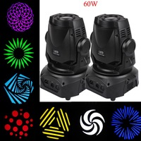 2PCS 60W 3 Prism LED Spot Moving Head Light Facet DMX 14Ch DJ Stage Party Show Club
