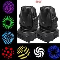 2PCS 60W 3 Prism LED Spot Moving Head Light Facet DMX 14Ch DJ Stage Party Show Club