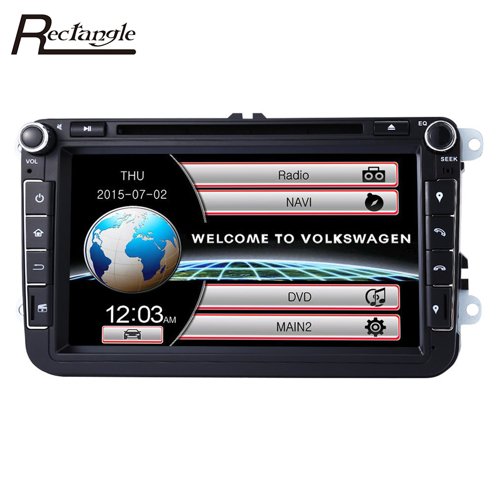 imágenes para 8 pulgadas WCE 2 Din Pantalla Táctil de Coches Reproductor de DVD de Navegación GPS WiFi 3G Dongle 2Din Radio Stereo Audio Video Player para VW/Skoda