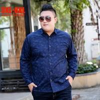 Spring Fashion New 3XL 8XL Blue Men Shirts Casual 5XL 6XL 7XL 8XL Male shirts Full Sleeve 100% Cotton Large Size Shirts Men