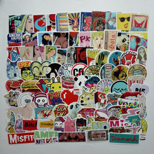 100pcs Mixed Cartoon Toy Stickers for Car Styling Bike Motorcycle Phone Laptop Travel Luggage Cool Funny Sticker Bomb Decals B02 scheppach 6v 200rpm 5pcs bits battery mini cordless electric drill screwdriver bit set household mini drills power tools