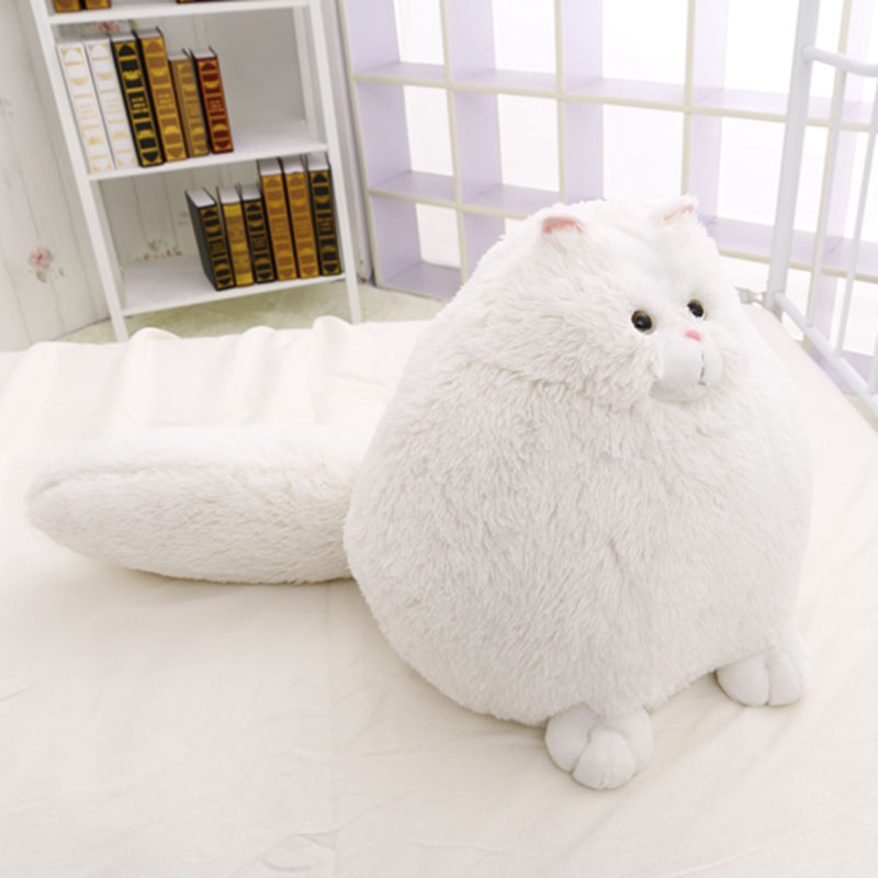 Free Shipping,50cm Cute Fat Persian Cat,Plush KidsToy,Cat Soft Stuffed Doll,White Simulation Cat Doll,Gift For Children,New