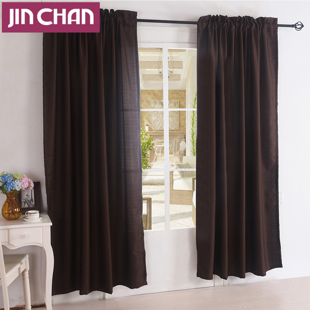 Aliexpress.com : Buy Finished Solid Brown Blackout Window