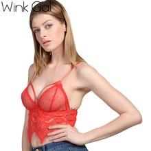 Wink Gal Sexy Mesh Tops For Women Female Underwear Lingerie Strappy Bralette Lace Bra 2735