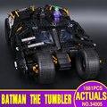 Nueva decool 7111 bloques lele 34005 super heroes batman el vaso año regalo juguetes para niños compatibles ladrillos bela 76023