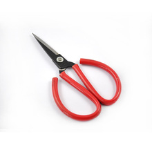 forged carbon steel household scissors durable 166mm rubber coated grip bonsai tool scissor