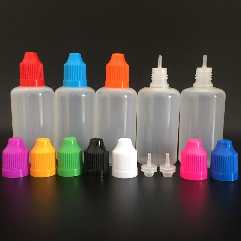 Image 3 - 1000pcs 50ml PE Soft Empty Plastic Dropper Bottle with Child proof Caps and long thin tips E liquid Nail Gel Refillable Bottlegel bottleempty plasticnail bottle -