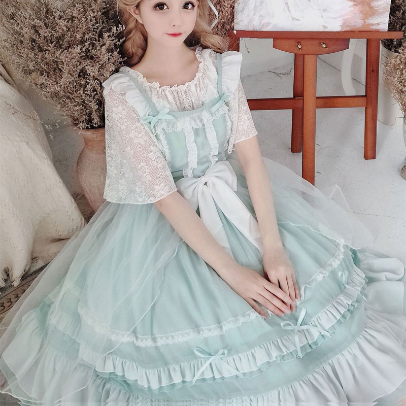 Miss Pei Sweet Lolita JSK Dress Classic Chiffon Party Dress for Summer