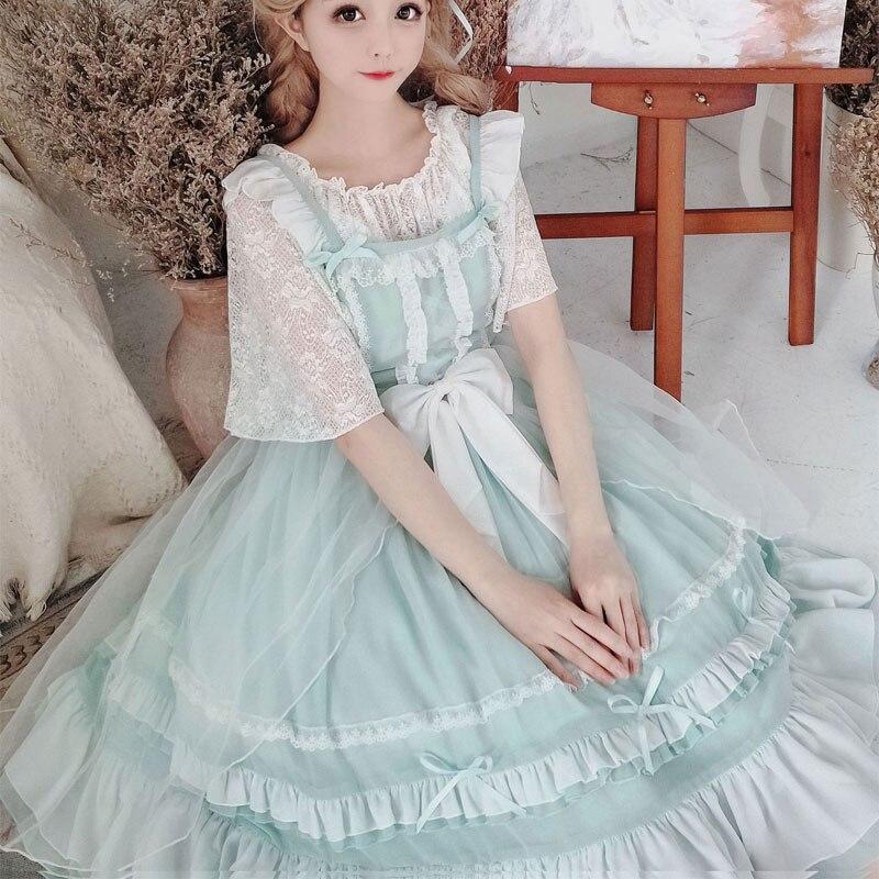 Miss Pei ~ หวาน Lolita JSK ชุดคลาสสิกชุดชีฟองปาร์ตี้สำหรับฤดูร้อน-ใน ชุดเดรส จาก เสื้อผ้าสตรี บน   1