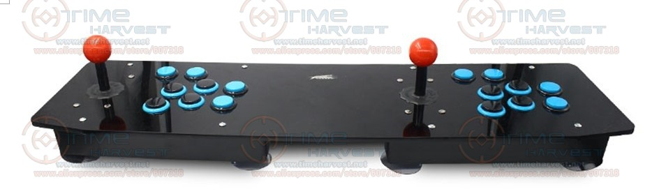 Zero Delay Arcade USB Joystick Acrylic 2 player Fighting Game Console with normal 8 ways Joystick Locking Buttons for PC MAME pandora box 4s 2 player arcade console for home 815 in 1 family game consoler with 5 pin 8 way joystick lock button hdmi vga out