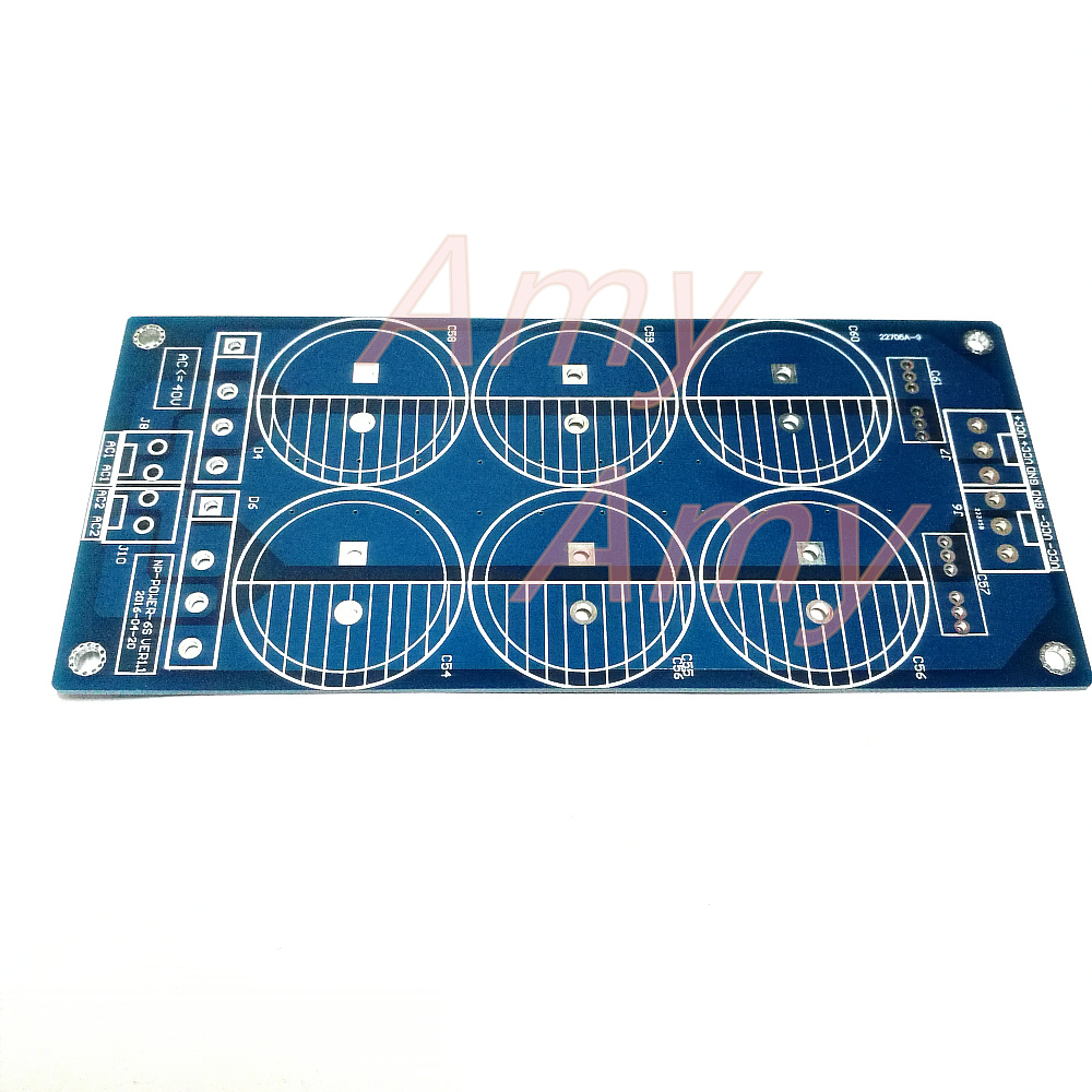 2pcs/lot 6*10000UF Power Level Power Supply Board PCB Empty Plate Sound Big Pond Bridge Rectifier