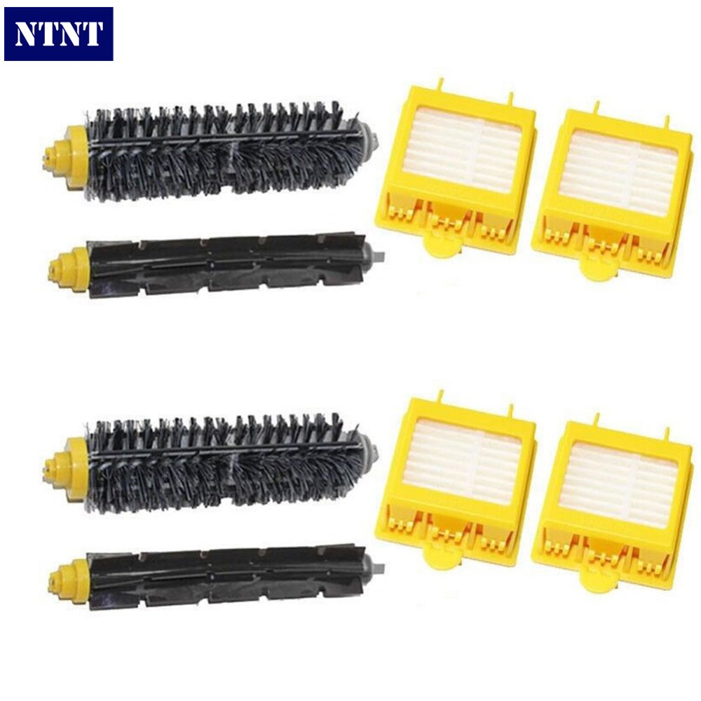 NTNT Free Post New Replace 2 pack Brush Filter Mini Kit for iRobot Roomba 700 Series 760 770 780 ntnt free post new replace 2 pack brush filter mini kit for irobot roomba 700 series 760 770 780