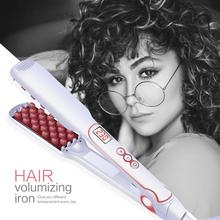 New Hair Volumizing Iron Flat LCD Display Straightener Suitable for Long Short
