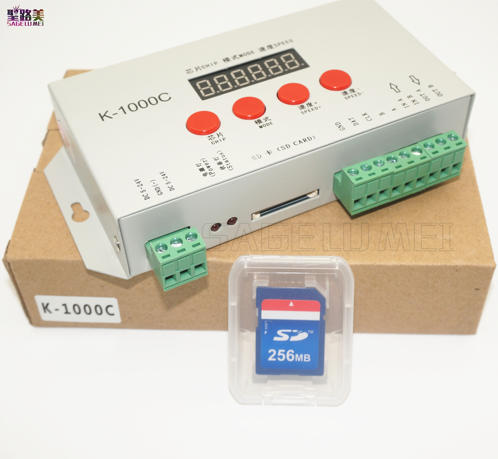 free shipping K-1000C controller(T-1000S Updated) DC5V-24V WS2812B,WS2811,APA102,SK6812,2801 LED 2048 Pixels Program Controllerfree shipping K-1000C controller(T-1000S Updated) DC5V-24V WS2812B,WS2811,APA102,SK6812,2801 LED 2048 Pixels Program Controller