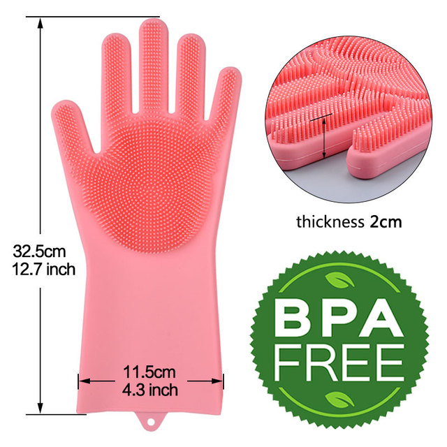 Silicone Cleaning Gloves Magic Silicone Dish Washing Gloves