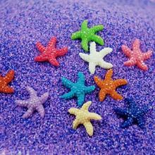 10 шт/20 шт Мини смолы милый многоцветный миниатюрный Морская звезда аквариум украшения Декор