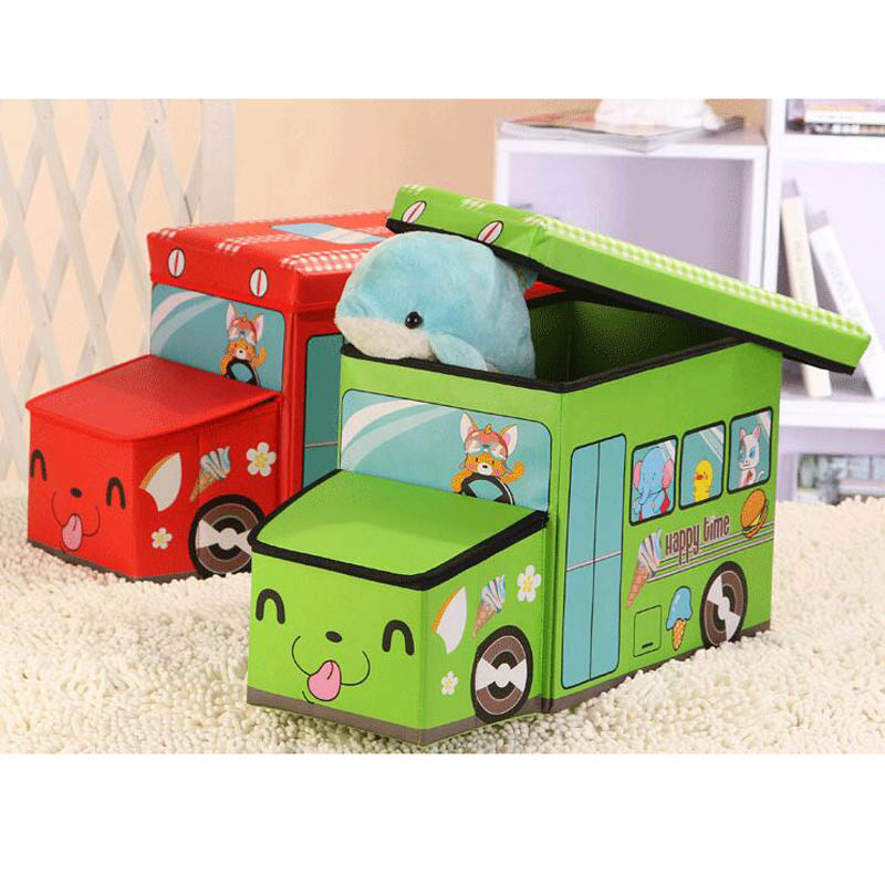 Cartoon Car shaped Storage Stool Children Clothes Toy Boxes Storage Container Foot Stool Kids Living Room Decorative FurnitureCartoon Car shaped Storage Stool Children Clothes Toy Boxes Storage Container Foot Stool Kids Living Room Decorative Furniture