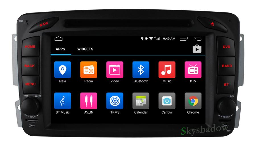 Best C500 4G SIM Android 6.0 8 Core 2GB RAM Car DVD Player RDS Radio GPS Map WIFI Bluetooth For Benz W163 W168 Viano Vito W463 W210 7