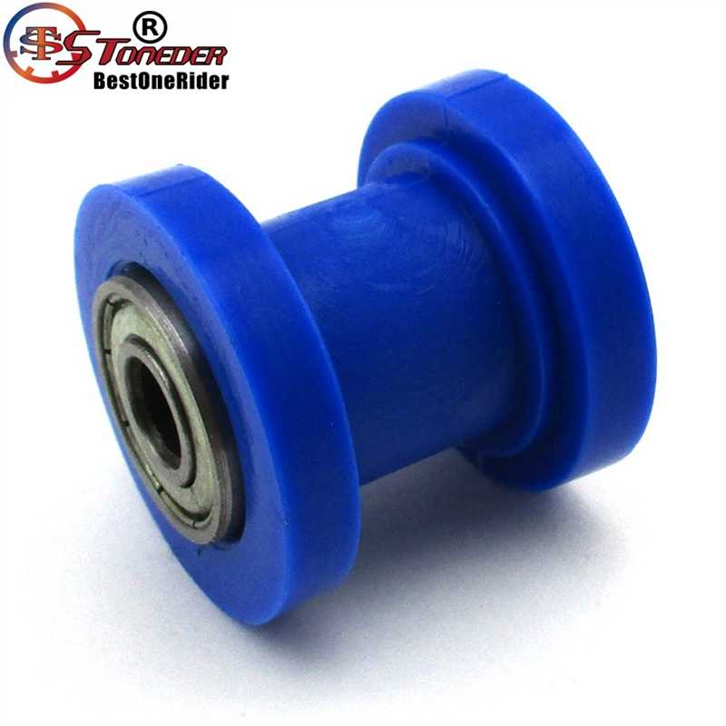 stoneder 8mm blue rubber chain roller for 50cc - 250cc ssr ycf imr pitster  pro sdg