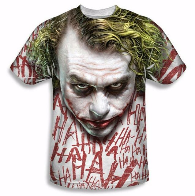 JOKER Personagens 3d Crewneck T-Shirt Dos Homens Das Mulheres de Estilo Verão Tee Roupas Da Moda t Tamanho da camisa Mais