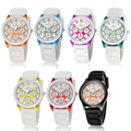 New Fashion 7 Colors Tide Design V6 Brand Ladies Sports Silicone Stap Watch Quartz Watch for Women Relojes Mujer Hot Gift Clock