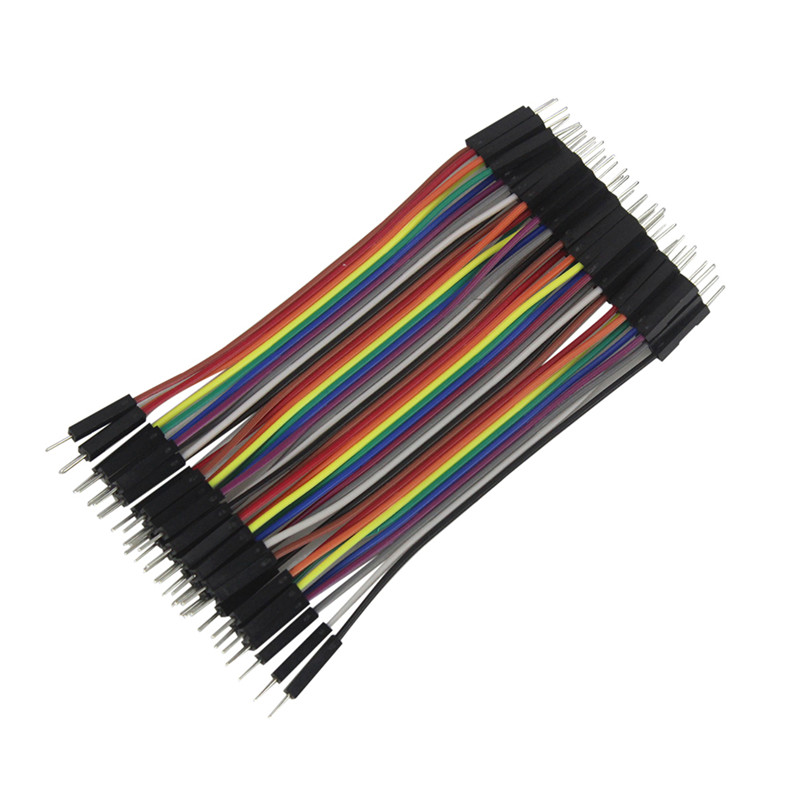 40PCS 10CM 2.54MM Row Male to Male Dupont Cable Breadboard Jumper Wire For Electronic Project