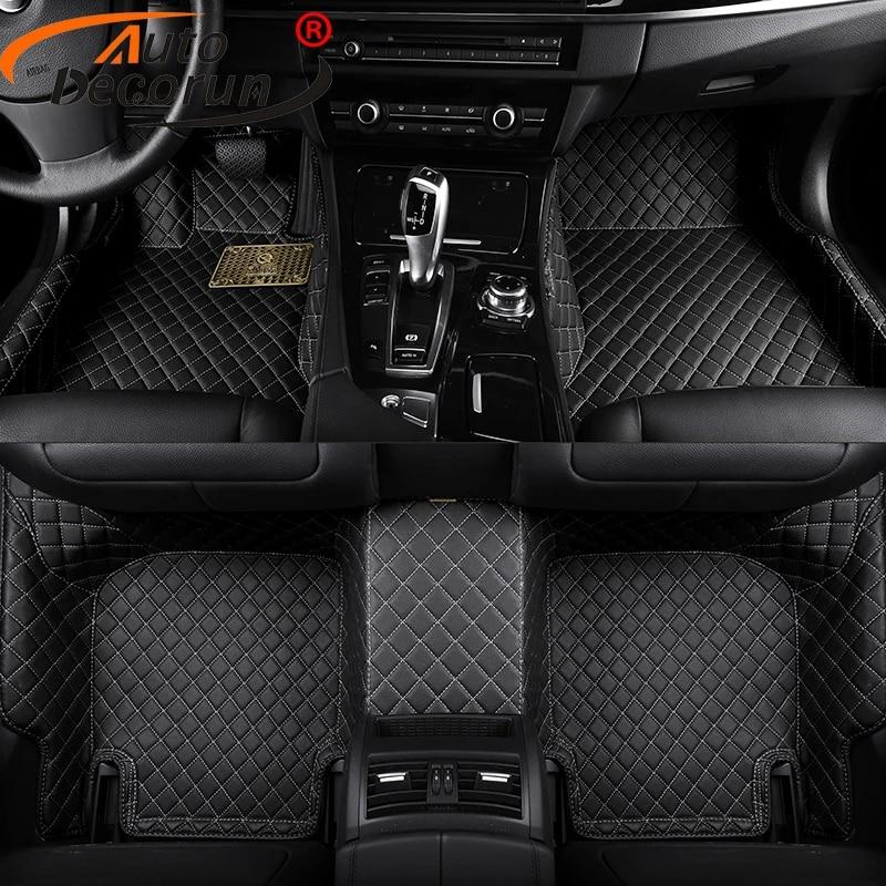autodecorun tapis de sol de voiture customise pour peugeot 308cc 308sw 607 3008 rcz tapis de voiture accessoires ensemble tapis de sol style 3d