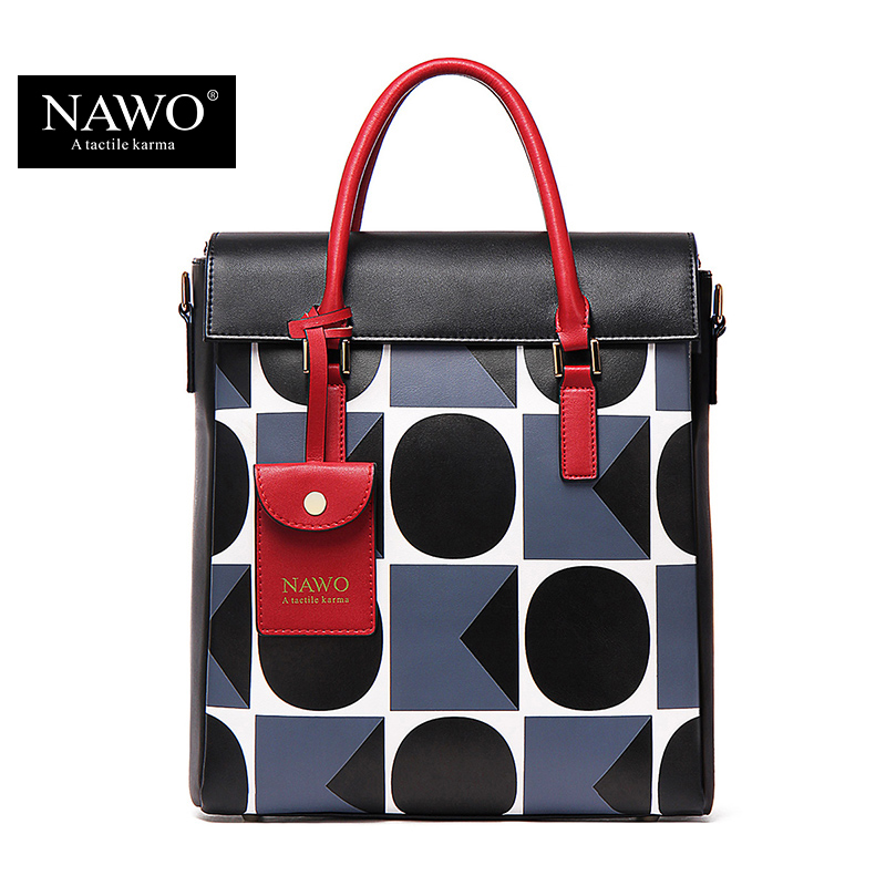 NAWO 2017 Famous Designer Brand Bags Women Leather Handbags High Quality Shoulder Bags Large Ladies Hand Bags Tote Female Blosas famous designer brand bags handbags women bags leather genuine large capacity sheepskin rivet hand bag shoulder tote female 2017