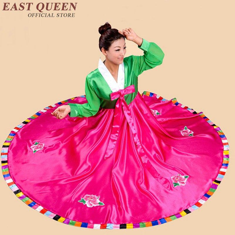 Korean Hanbok Traditional Dress Women Full Sleeve Ancient National Clothing Aa2256 Q