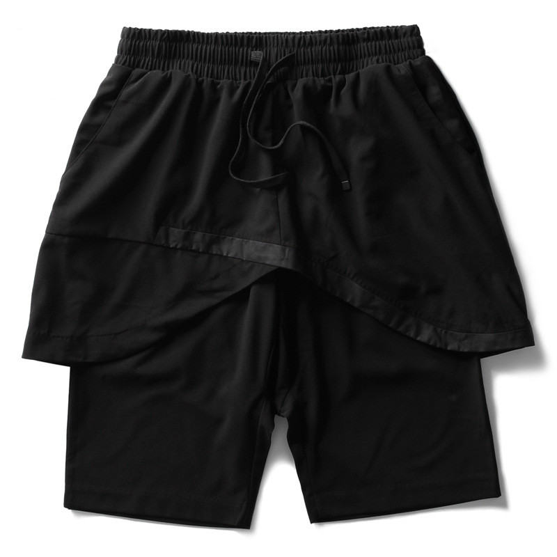 Tide brand men's 2016 new high street shorts summer influx of people must stitching section of men's black shorts shirts