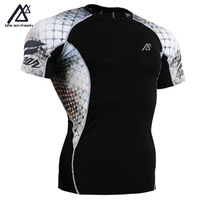 2016 New Men Sports T Shirt Compression Base Layer Running Fitness Tights Skin tight Sportswear Workout Gym Tshirt Jerseys