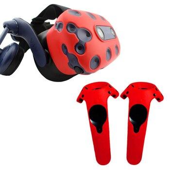 Dla htc VIVE PRO VR futerał silikonowy zestaw słuchawkowy wirtualnej rzeczywistości kask rączka kontrolera obudowa etui do htc Vive Pro VR okulary