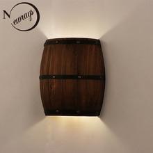 الأمريكية خمر مصابيح الحائط برميل نبيذ البلاد الحديثة أضواء الجدار LED E27 لغرفة النوم غرفة المعيشة مطعم المطبخ الممر بار