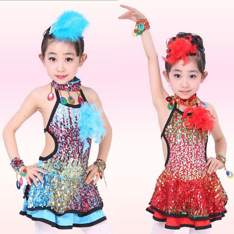223477db4e68 Sequined Girl Leotards Toddler Girl Gymnastics Dance Dress Children ...