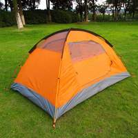 1set Outdoor Tourist double layer 4 season aluminum rod windproof waterproof professional camping tent
