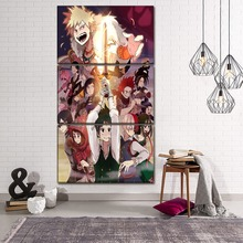 High Quality Canvas Printed Wall Art Poster 3 Piece Anime My Hero Academia Role Painting Home Decorative Bedroom Modular Picture