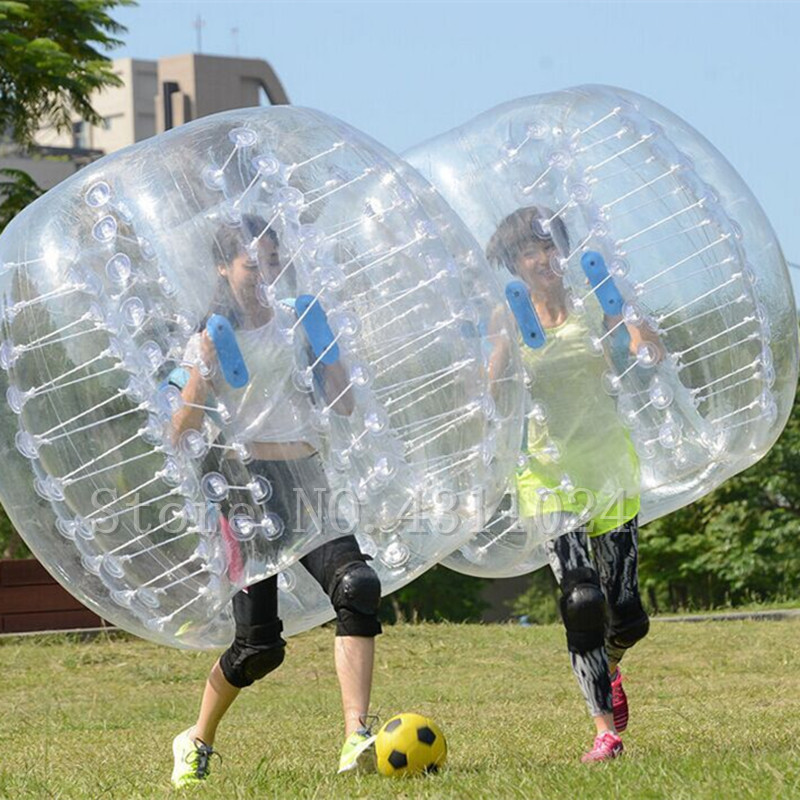 Free Shipping Bumper Ball 5FT Dia Bubble Soccer football 0.8mm PVC Transparent Material Inflatable Body Bumper Zorb Ball