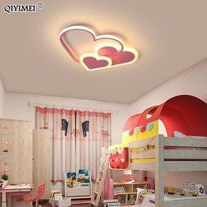 Image 5 - לב Led נברשת אור עבור ילדה חדר שינה Plafond אקריליק תאורת מנורת מודרני חדש מתקן Lampadario Luminaire Lustres