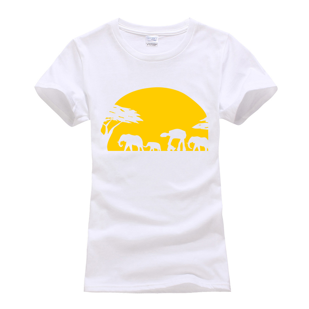 2019 summer short sleeve o-neck camisetas Elephants Imperial Walker Across African Safari TShirt femme t-shirts women clothing