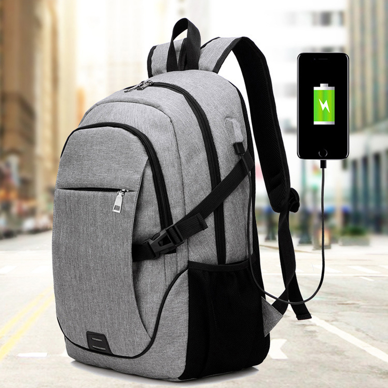 4 Colors School Backpacks USB Charging Sports Laptop Backpack Men Schoolbag For Teenager Girls Large Capacity Unisex Gym Bag