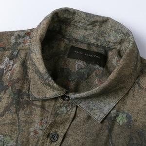 Image 5 - Mannen nieuwe winter Vintage shirt gedrukt bloem lange mouwen mannen slim mode katoen Europese stijl kwaliteit brand shirt S2333