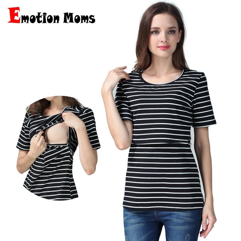 Emotion Moms Summer pregnancy Abbigliamento premaman allattamento maternità top infermieristico top per donne incinte T-shirt