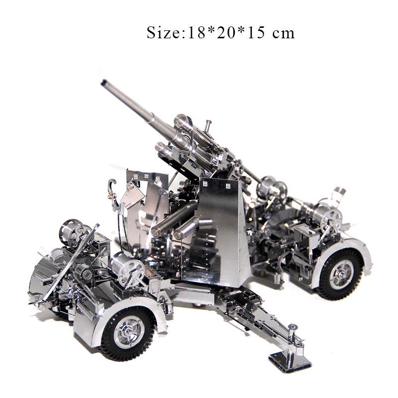 3D casse-têtes en métal Modèle Allemagne 88 d'arme Antiaérien et D'artillerie Puzzle Enfant Adulte jouets éducatifs Collection De Noël Cadeaux