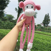 New Products Are Pure Handmade Home Furnishing Articles Doll Long Arm Big Mouth Monkey Monkey Doll
