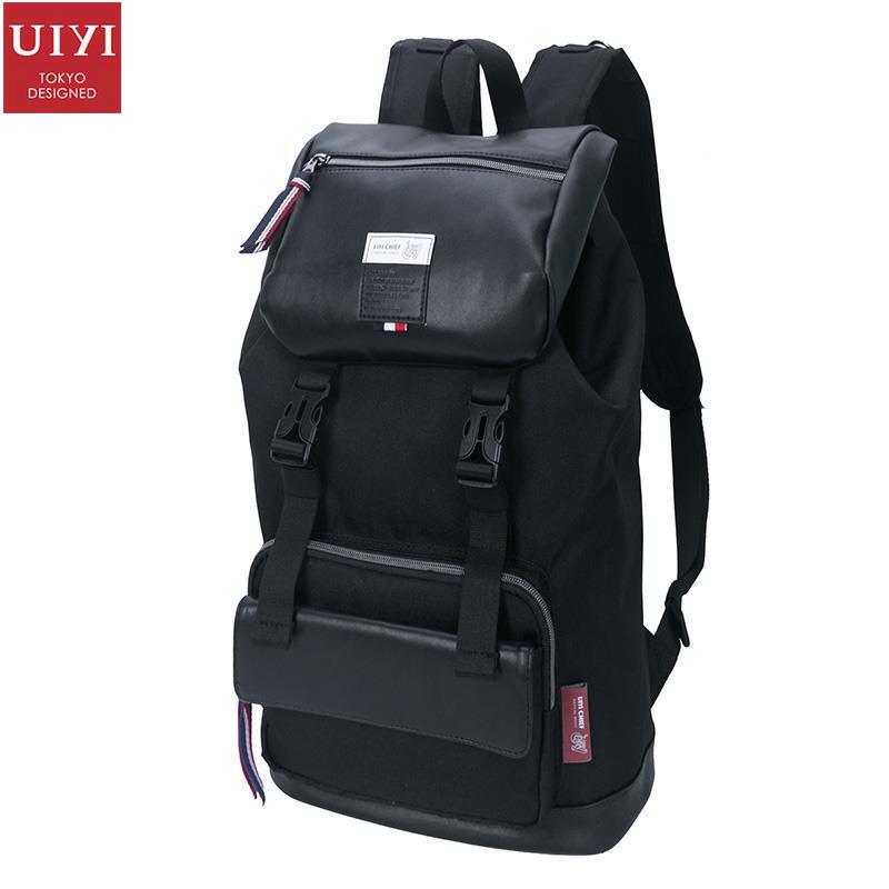 uiyi backpack men polyester microfiber pu leather patchwork backpacks for teenagers school rucksack school bags travel 160014 UIYI Brand Travel Women Men Lightweight Polyester PU Leather Casual School College Backpacks Quality Luxury Daypack Bag 160082