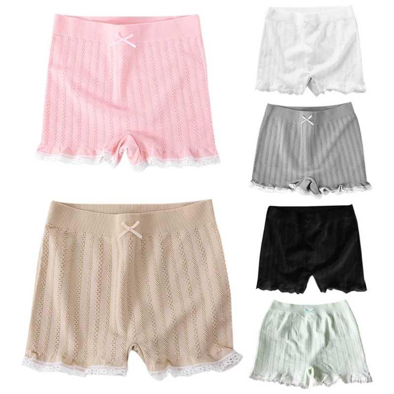 Moda nowe kobiety dziewczęta elastyczne obcisłe szorty koronkowy pasek pod spódnicą krótkie spodnie chłopięce Bowknot 6 kolorów wysokiej jakości